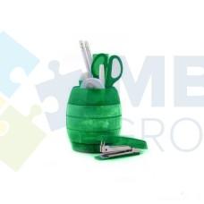 Набор настольный Economix 12 предметов, вращается на 360 °, зеленый
