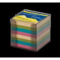 Бокс с цветной бумагой Buromax, 90х90х90мм, 1000л., дымчатая