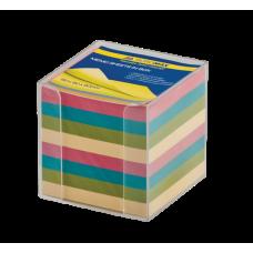 Бокс с цветной бумагой Buromax, 90х90х90мм, прозрачная