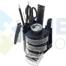 Набор настольный Economix 13 предметов, вращается на 360 °, черный