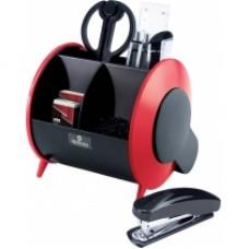 Набор настольный Optima 9 предметов, вращается на 360 °, красный