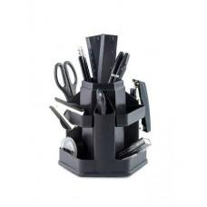 Набор настольный Economix 14 предметов, вращается на 360 °, черный