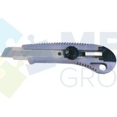 Нож универсальный 18 мм Economix, металлический корпус