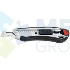 Нож универсальный 18 мм Optima, пластиковый корпус с резиновыми вставками