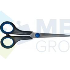 Ножницы 17 см Economix, пластиковые ручки с резиновыми вставками