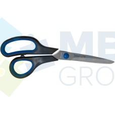 Ножницы 20 см Economix, пластиковые ручки с резиновыми вставками