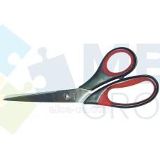 Ножницы 20 см Optima, пластиковые ручки с резиновыми вставками