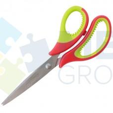 Ножницы 15 см Optima, пластиковые ручки с резиновыми вставками