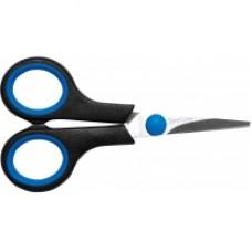 Ножницы 12 см Economix, пластиковые ручки с резиновыми вставками