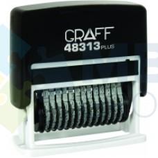 Мини-нумератор GRAFF 48313 Plus, 13 разрядов, 3 мм