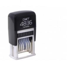 Мини-нумератор GRAFF 4836, 6 разрядов, 3 мм
