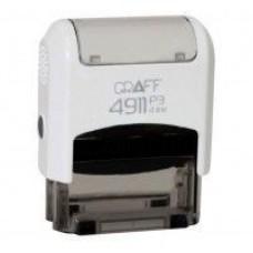 """Оснастка автоматическая GRAFF 4911 P3 """"GLOSSY"""", для штампа 38х14 мм, 38х14 мм белая"""