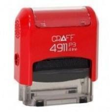 """Оснастка автоматическая GRAFF 4911 P3 """"GLOSSY"""", для штампа 38х14мм, красная"""