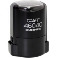 """Оснастка автоматическая GRAFF 46040 HUMMER """"GLOSSY"""", для печати d 40 мм, черная с футляром"""