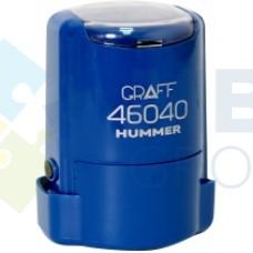 """Оснастка автоматическая GRAFF 46040 HUMMER """"GLOSSY"""" пластиковая, для печати d 40 мм, синяя с футляром"""