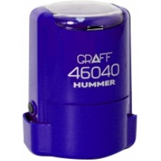 "Оснастка автоматическая GRAFF 46040 HUMMER ""GLOSSY"", для печати d 40 мм, сиреневая с футляром"