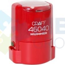"Оснастка автоматическая GRAFF 46040 HUMMER ""GLOSSY"", для печати d 40 мм, красная с футляром"