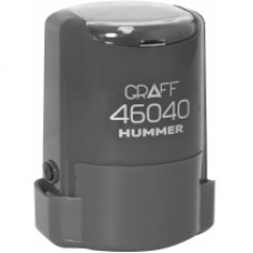 """Оснастка автоматическая GRAFF 46040 HUMMER """"GLOSSY"""", для печати d 40 мм, серая с футляром"""