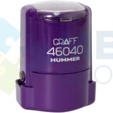 """Оснастка автоматическая GRAFF 46040 HUMMER """"GLOSSY"""", для печати d 40 мм, фиолетовая с футляром"""
