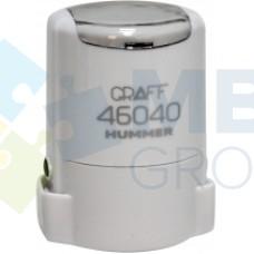 """Оснастка автоматическая GRAFF 46040 HUMMER """"GLOSSY"""", для печати d 40 мм, белая с футляром"""