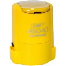 """Оснастка автоматическая GRAFF 46040 HUMMER """"GLOSSY"""", для печати d 40 мм, желтая с футляром"""