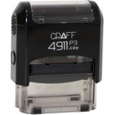 """Оснастка автоматическая GRAFF 4911 P3 """"GLOSSY"""", для штампа 38х14мм, черная"""