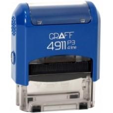 "Оснастка автоматическая GRAFF 4911 P3 ""GLOSSY"", для штампа 38х14мм, синяя"