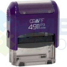 """Оснастка автоматическая GRAFF 4911 P3 """"GLOSSY"""", для штампа 38х14 мм, фиолетовая"""