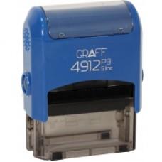"Оснастка автоматическая GRAFF 4912 P3 ""GLOSSY"", для штампа 47х18 мм, синяя"