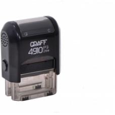 """Оснастка автоматическая GRAFF 4910 P3 """"GLOSSY"""", для штампа 26х10мм, черная"""