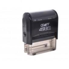 """Оснастка автоматическая GRAFF 4913 P3 """"GLOSSY"""", для штампа 58х22мм, черная"""