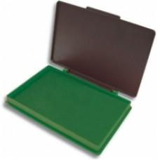 Подушка штемпельная, настольная KORES, размер 110х70 мм, зеленая