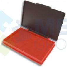 Подушка штемпельная, настольная KORES, размер 110х70 мм, красная