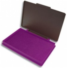 Подушка штемпельная, настольная KORES, размер 110х70 мм, фиолетовая