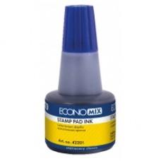 Краска штемпельная Economix, 30 мл, синяя