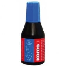 Краска штемпельная KORES, 27 мл, синяя