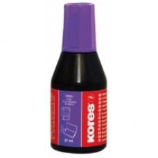 Краска штемпельная KORES, 27 мл, фиолетовая