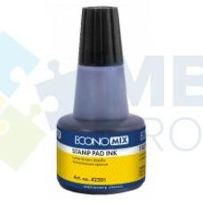 Краска штемпельная Economix, 30 мл, черная