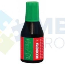 Краска штемпельная KORES, 27 мл, зеленая