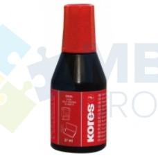 Краска штемпельная KORES, 27 мл, красная