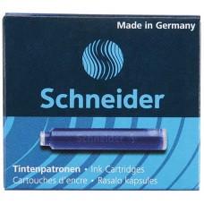 Патроны чернильные к перьевой ручки Schneider, 6 шт., синие