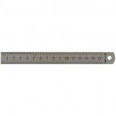 Линейка металлическая 15см Buromax, двухсторонняя