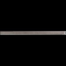 Линейка металлическая 50см Buromax, двухсторонняя