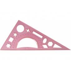 Треугольник Economix, 20 см, (транспортир и геометрические фигуры)