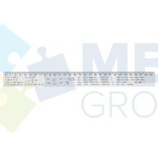 Линейка 30 см Economix, алгебраические формулы, печатная