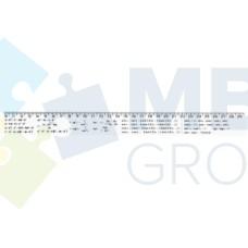 Линейка 30 см Economix, тригонометрические формулы, печатная