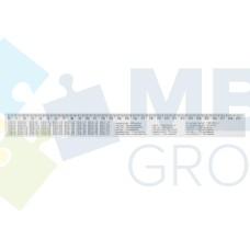 Линейка 30 см Economix, таблицы: умножение, объема, площади, массы, печатная