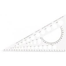Треугольник 25 см Economix, белый с шелкографией