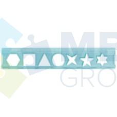 Линейка 15 см Economix, трафарет геометрических фигур, прозрачный пластик