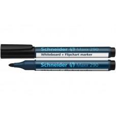 Маркер для досок и флипчартов Schneider MAXX 290, черный